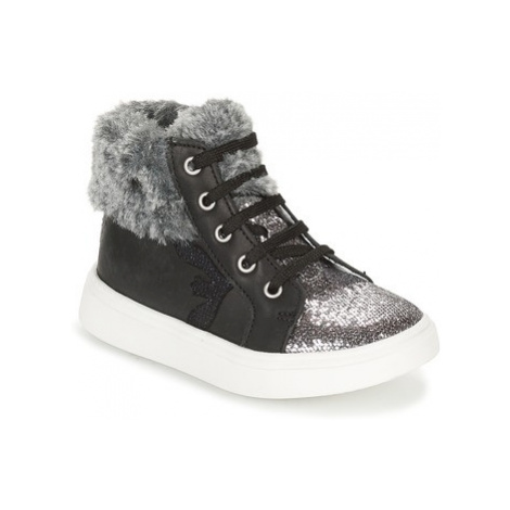 Catimini MARCELLE girls's Children's Shoes (High-top Trainers) in Silver