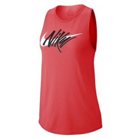 Nike NK DRY LEG TANK TOM SWOOSH pink - Women's sports tank top