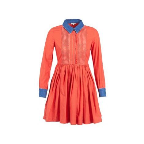 Manoush POMPOM women's Dress in Orange
