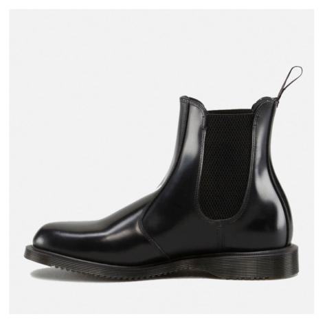 Dr. Martens Women's Flora Polished Smooth Leather Chelsea Boots - Black - UK Dr Martens