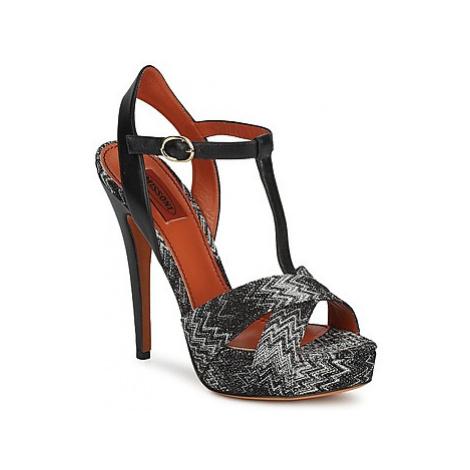 Missoni VM034 women's Sandals in Black