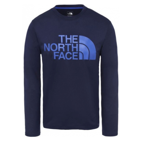 The North Face FLEX 2 BIG LOGO LS M dark blue - Men's T-shirt