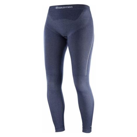 Salomon PRIMO WARM TIGHT SEAMLESS dark blue - Women's leggings