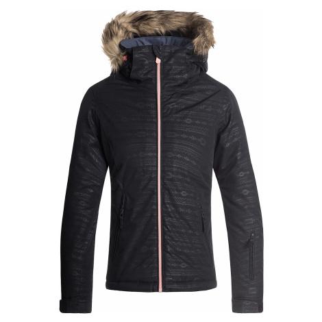 jacket Roxy Jet Ski Embossed - KVJ8/True Black/Indie Stripes Emboss - girl´s