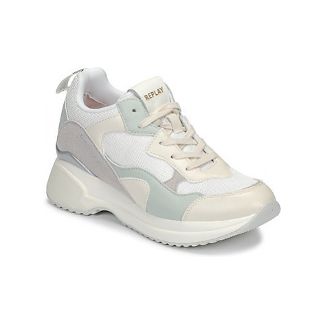 Replay THEME women's Shoes (Trainers) in Beige