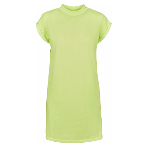 Urban Classics - Ladies Turtle Extended Shoulder Dress - Dress - lime