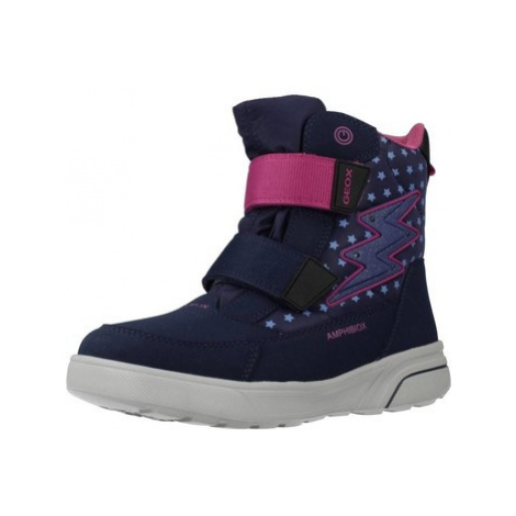 Geox J SVEGGEN GIRL B ABX girls's Children's Snow boots in Blue