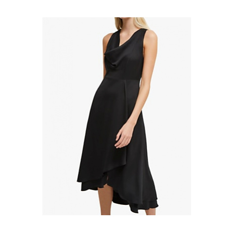 French Connection Alessia Satin Dress, Black