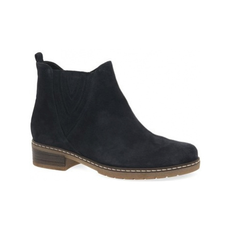Gabor Dorothy Womens Casual Suede Chelsea Ankle Boots women's Mid Boots in Blue