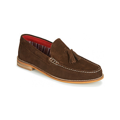Base London TEMPUS men's Loafers / Casual Shoes in Brown