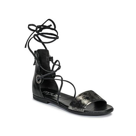 Mjus CHAT LACES women's Sandals in Black