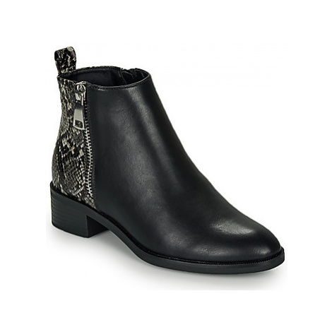 Only BRIGHT PU women's Mid Boots in Black