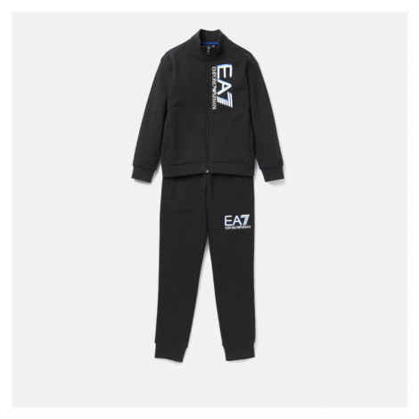 Emporio Armani EA7 Boys' Full Zip Tracksuit - Black