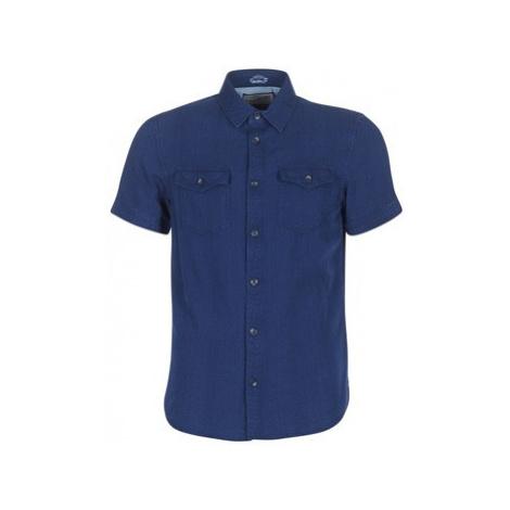 Petrol Industries SALAFIL men's Short sleeved Shirt in Blue