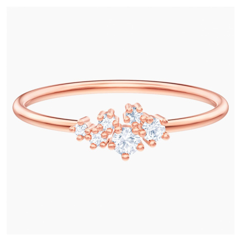 Penélope Cruz Moonsun Ring, White, Rose-gold tone plated Swarovski