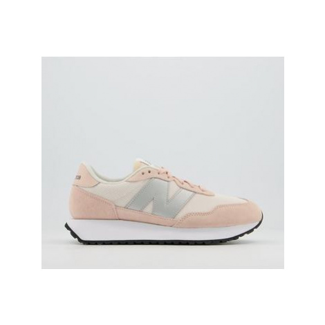 New Balance Ws237 Trainers PINK SILVER WHITE