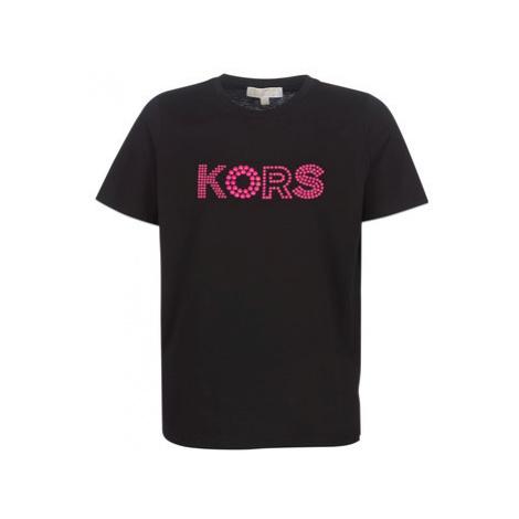 MICHAEL Michael Kors HT MIX LOGO TEE women's T shirt in Black