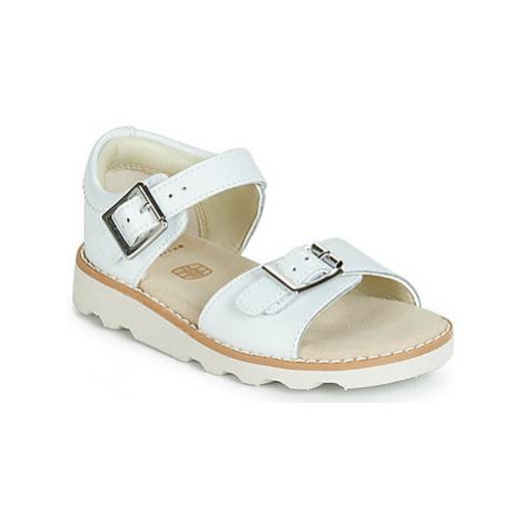 Clarks Crown Bloom T girls's Children's Sandals in White