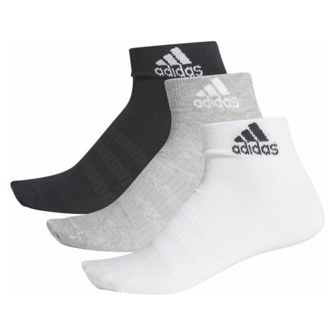 adidas Performance Light Set of 3 pairs of socks Black White Grey