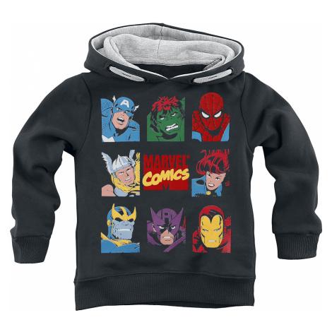 Marvel - Marvel Comic Icons - Kids Hooded Sweater - black