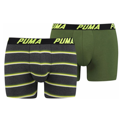 shorts Puma 691001001/Basic Boxer Stripe 2 Pack - 998/Black/Gray/Green - men´s