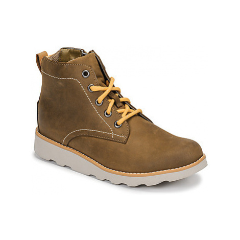 Clarks CROWN HIKE K boys's Children's Mid Boots in Brown
