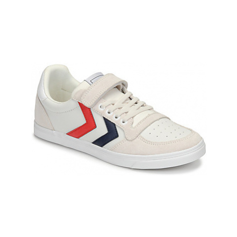 Hummel SLIMMER STADIL LEATHER LOW JR girls's Children's Shoes (Trainers) in White