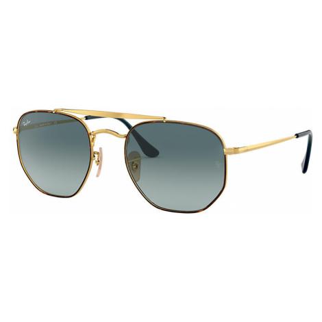 Ray-Ban Marshal Unisex Sunglasses Lenses: Blue, Frame: Gold - RB3648 91023M 54-21