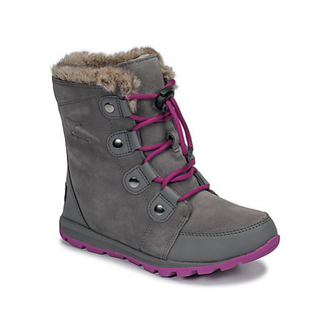 Sorel YOUTH WHITNEY SUEDE girls's Children's Snow boots in Grey