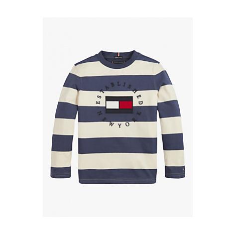 Tommy Hilfiger Boys' Stripe Logo T-Shirt, Navy