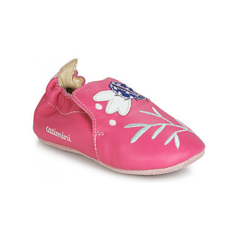 Pink infant and toddler shoes