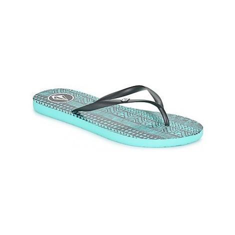 Volcom ROCKING 2 SNDL women's Flip flops / Sandals (Shoes) in Blue