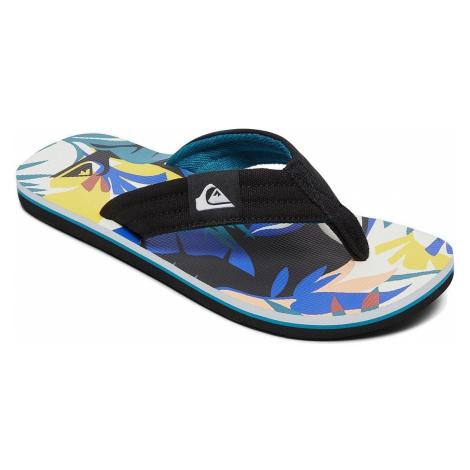 flip flops Quiksilver Molokai Layback - XKWB/Black/White/Blue - boy´s