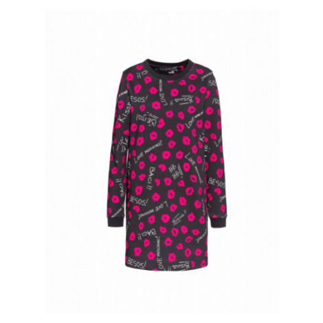 Kiss Kiss Fleece Dress Moschino