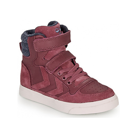 Hummel STADIL WINTER HIGH JR girls's Children's Shoes (High-top Trainers) in Pink