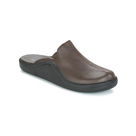 Brown men's home shoes