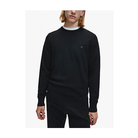 Calvin Klein Superior Wool Crew Neck Jumper, CK Black