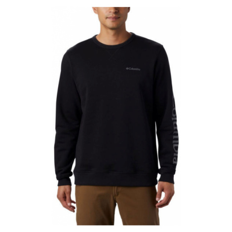 Columbia M LOGO FLEECE CREW black - Men's fleece sweatshirt