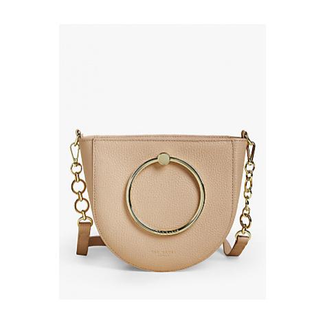 Ted Baker Fiorel Leather Shoulder Bag, Cream