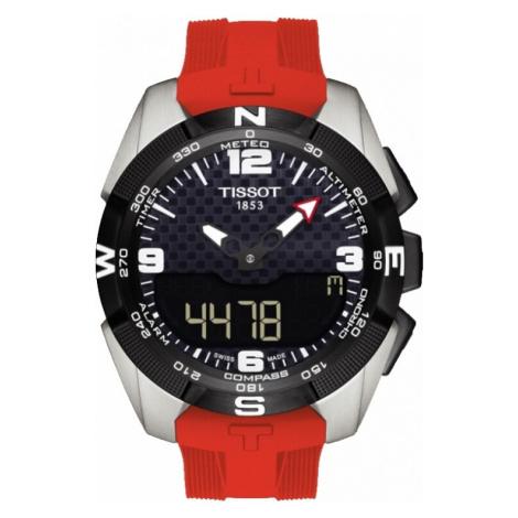 Mens Tissot T-Touch Expert Solar Titanium Alarm Chronograph Solar Powered Watch T0914204705700