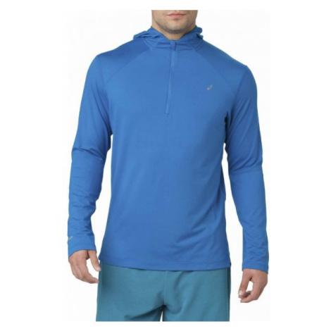 Asics LS HOODIE blue - Men's running sweatshirt