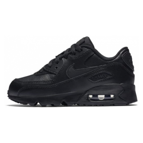Nike Air Max 90 Leather Younger Kids' Shoe - Black