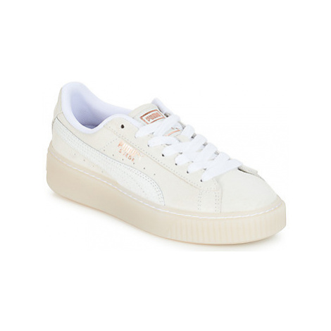 Puma WN SUEDE PLATFORM ARTICA.W women's Shoes (Trainers) in White