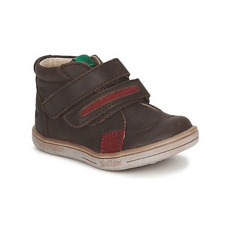 Kickers TAXI boys's Children's Mid Boots in Brown