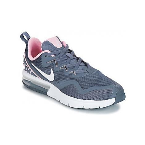 Nike AIR MAX FURYJUNIOR girls's Children's Shoes (Trainers) in Grey