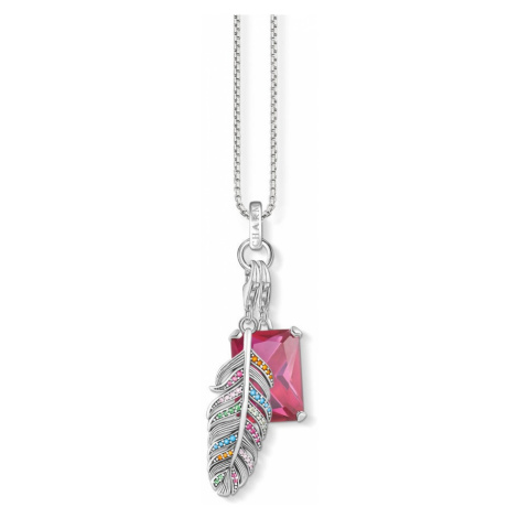 THOMAS SABO Silver Magic Feather Charm Necklace