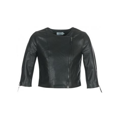 Only MILA women's Leather jacket in Black