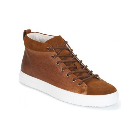 Blackstone OM56 men's Shoes (High-top Trainers) in Brown