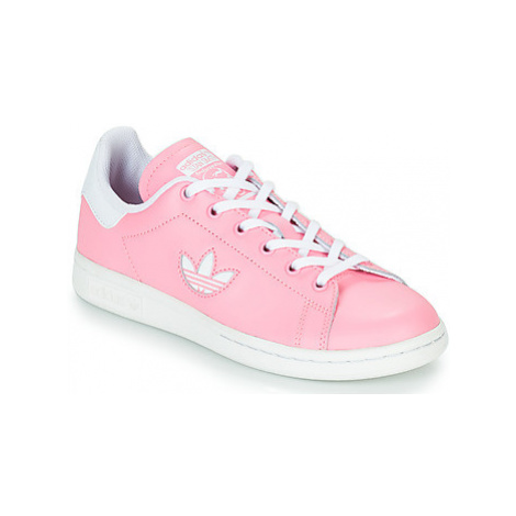 Adidas STAN SMITH J girls's Children's Shoes (Trainers) in Pink