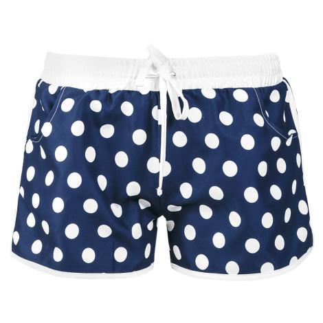 Pussy Deluxe - Big Dots Girl Boardshorts - Girls Boardshorts - navy-white